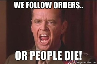 follow orderrs