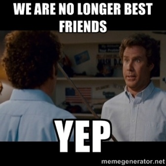 no longer friends
