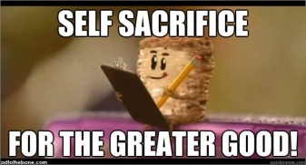 self sacrifcee